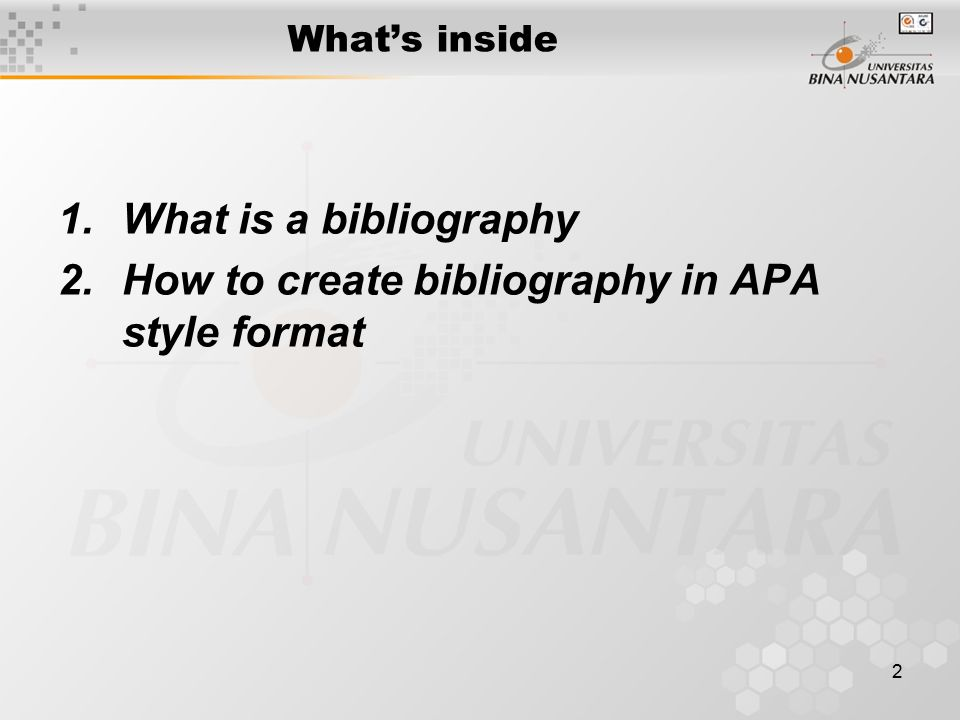 Module 12 Bibliography and Appendix (APA Style) - ppt video online