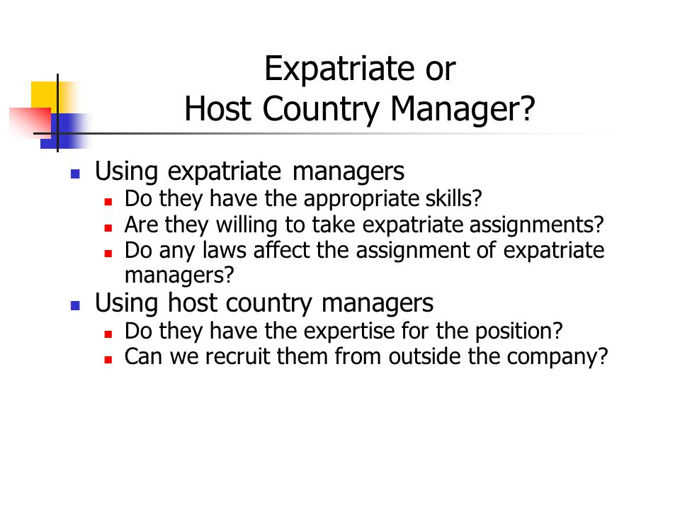 Selection Of Expatriate Managers - Ppt Video Online Downloadan expat