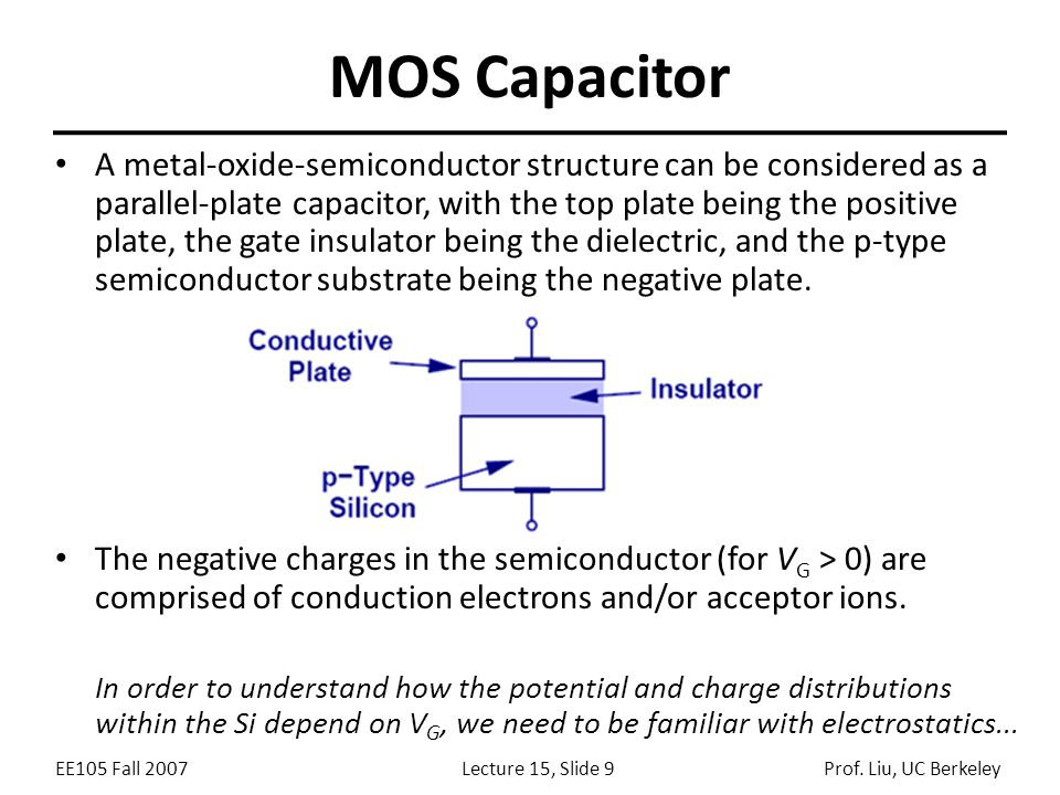 Lecture 15 Outline Mosfet Structure Operation