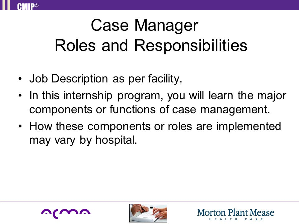 Introduction to Case Management - ppt download - case management job description