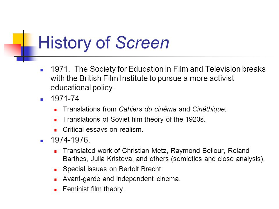 Screen Film And Ideology Ppt Video Online Download