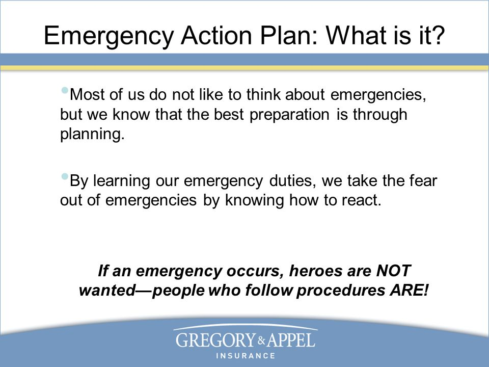 Emergency Action Plan Standard 29 CFR ppt video online download