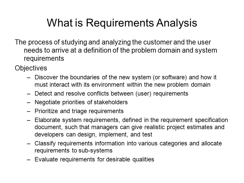 Requirements Analysis and Specification - ppt download - requirement analysis