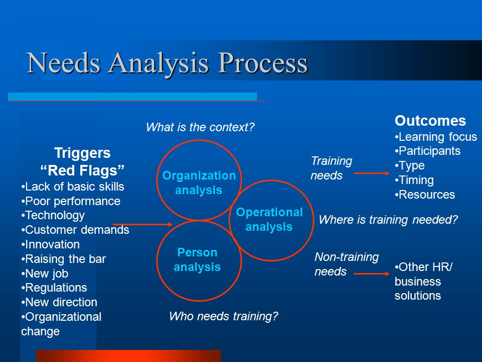 Needs Analysis Chapter #4 - ppt video online download