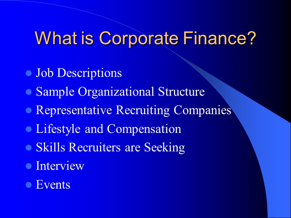 What is Corporate Finance? - ppt video online download