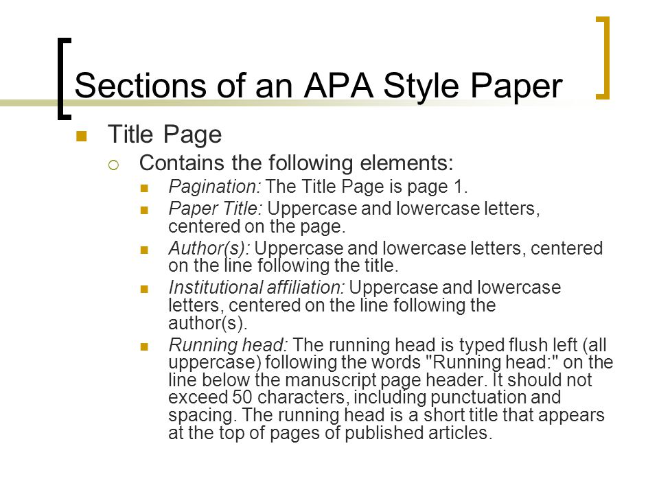 Writing an APA Style Research Paper - ppt video online download - cover page for apa style research paper