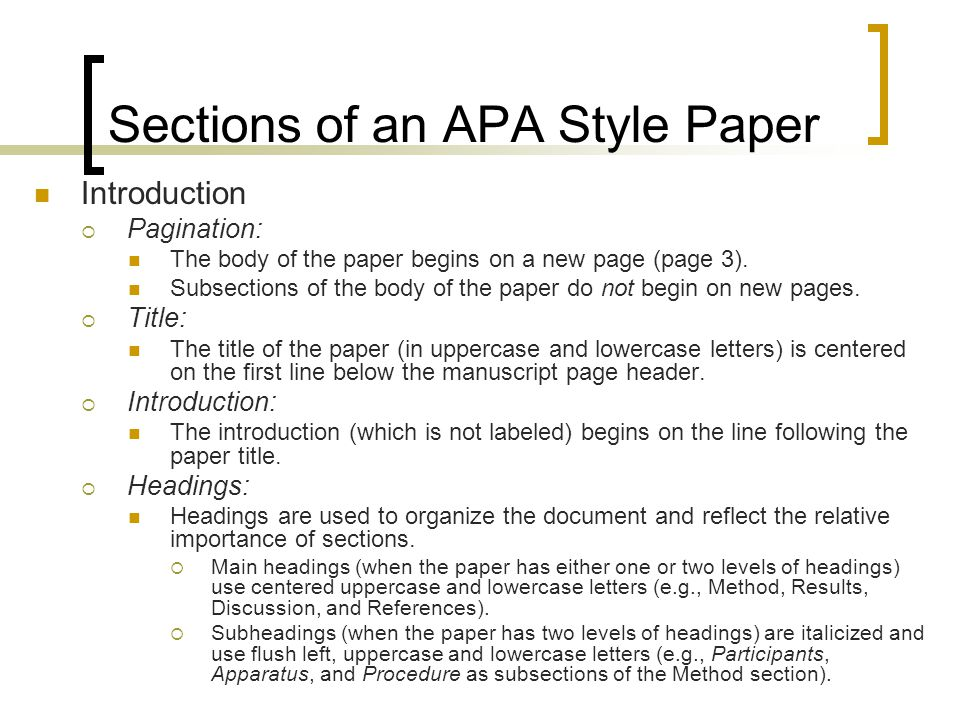 Writing an APA Style Research Paper - ppt video online download