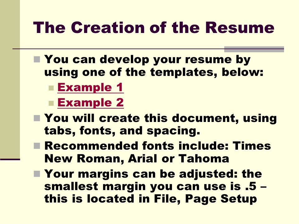 Resume Tutorial Before you create your resume, brainstorm why an