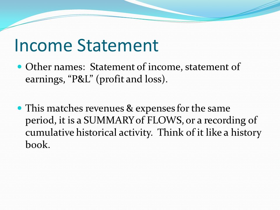 Income Statement and Balance Sheet - ppt video online download