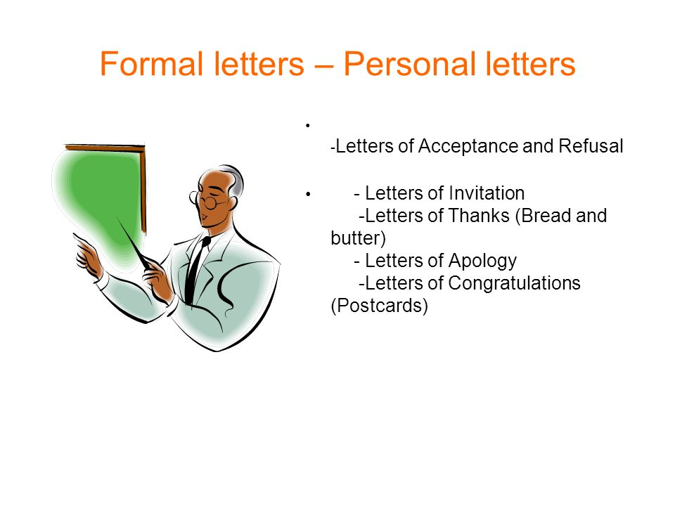 Formal letters \u2013 Personal letters - ppt video online download