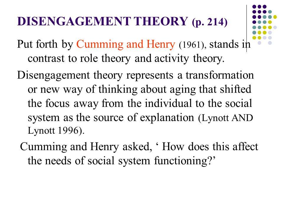 Sociological Theories of Aging (1) - ppt download