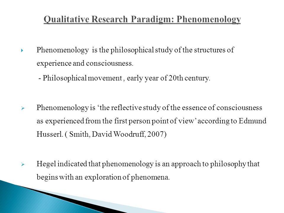 Qualitative Paradigm Phenomenology, Case Studies  Etnography - ppt
