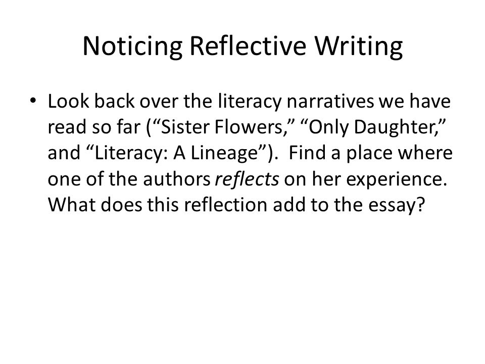 Literacy Narrative Examples - ppt video online download