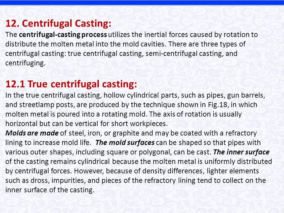 METAL-CASTING PROCESSES - ppt download