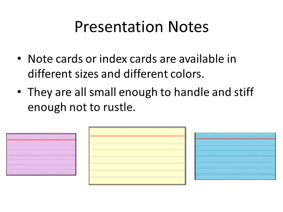 Presenting using Presentation Note Cards - ppt video online download