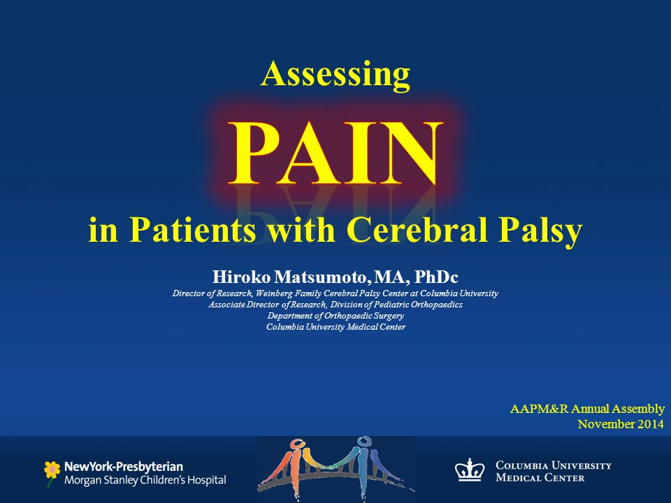 in Patients with Cerebral Palsy Hiroko Matsumoto, MA, PhDc - ppt - ma cerebral palsy