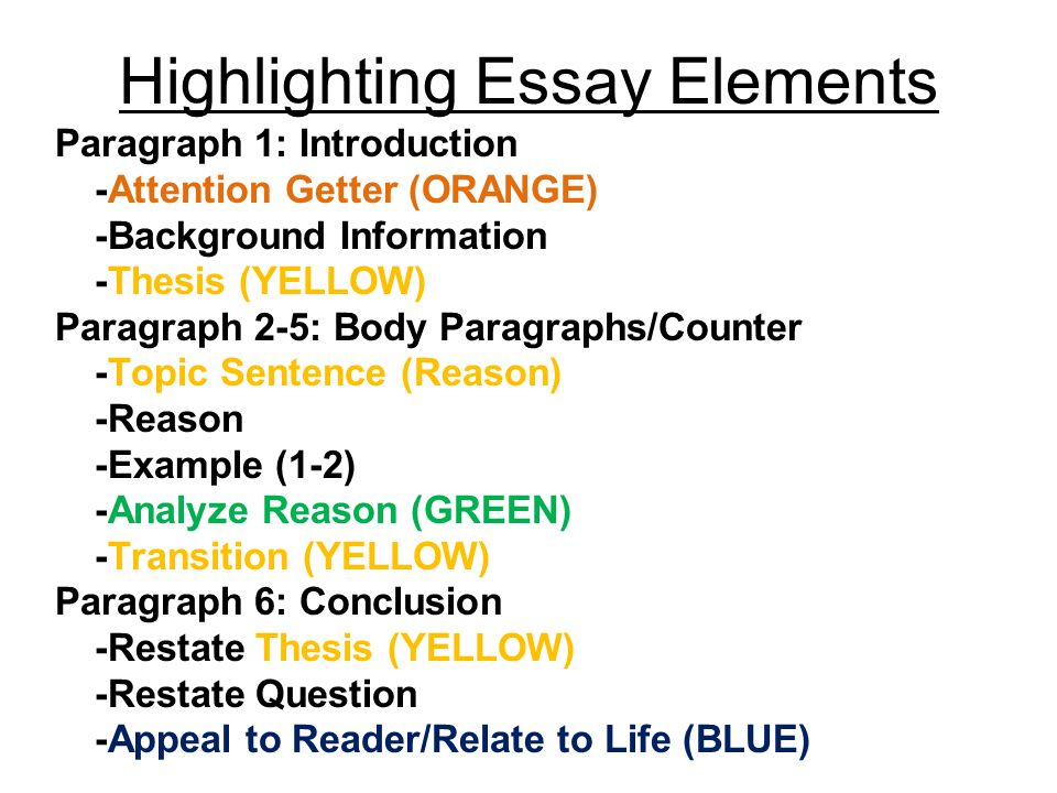 Highlighting Time Paragraph 1 Introduction Attention