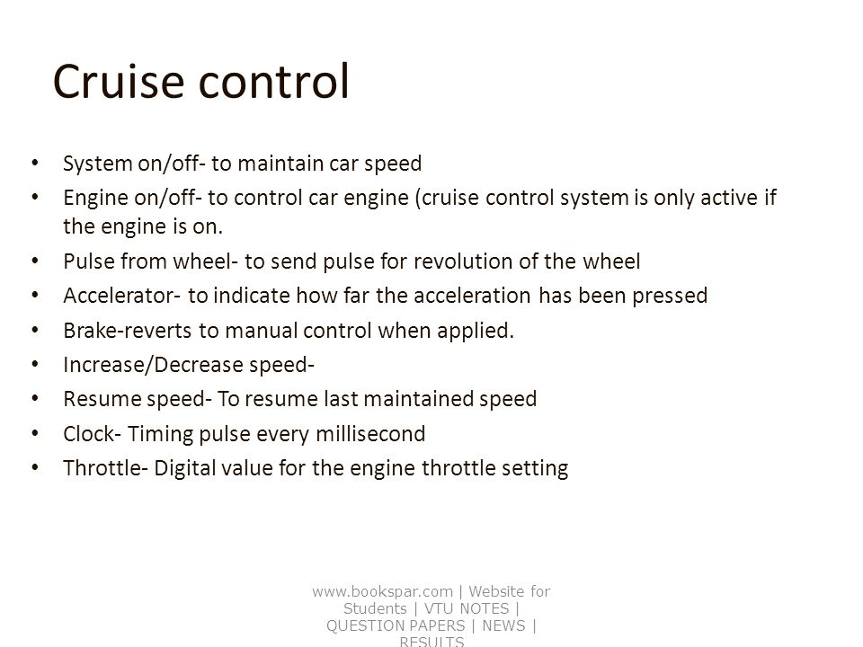 Booch Block diagram for cruise control - ppt video online download