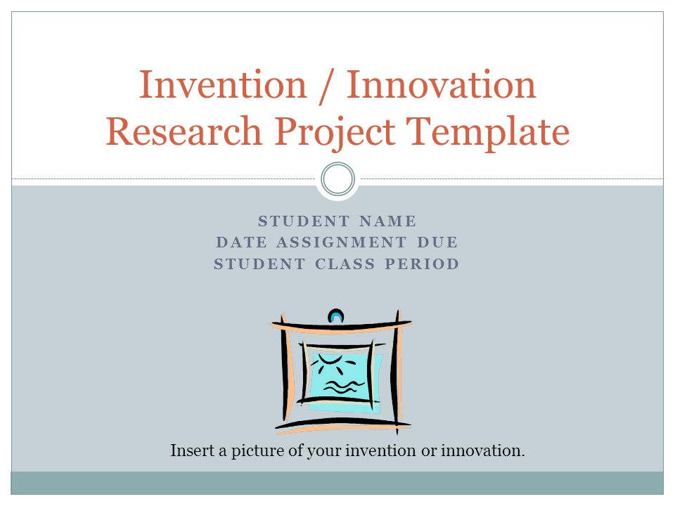 Invention / Innovation Research Project Template - ppt video online