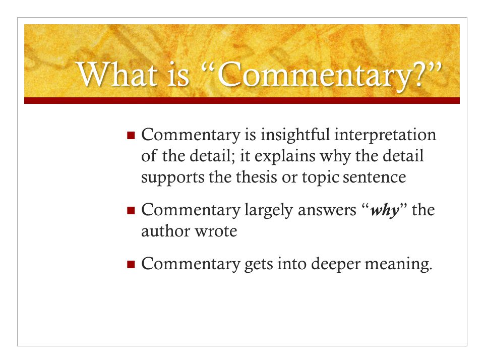 TDEC COMMENTARY - ppt video online download