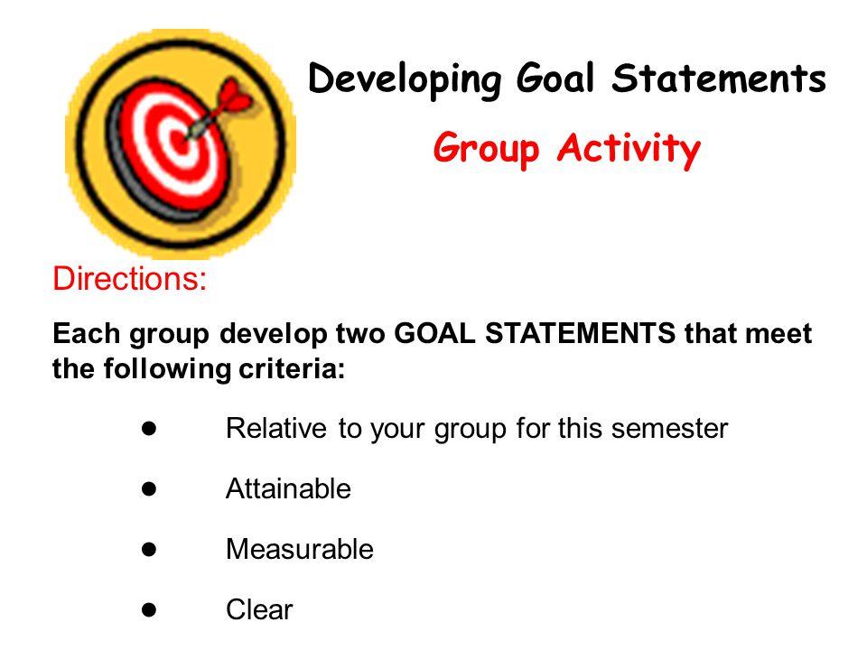goal statements - Onwebioinnovate