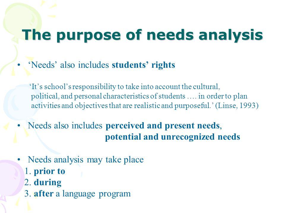 Needs Analysis Instructor Dr Mavis Shang - ppt download