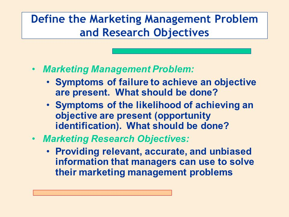 Defining the Problem and Determining Research Objectives - ppt video