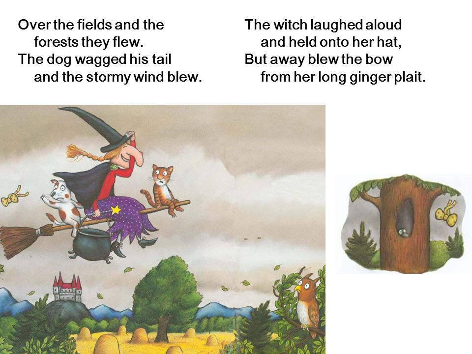 The Witch Had A Cat And A Very Tall Hat And Long Ginger