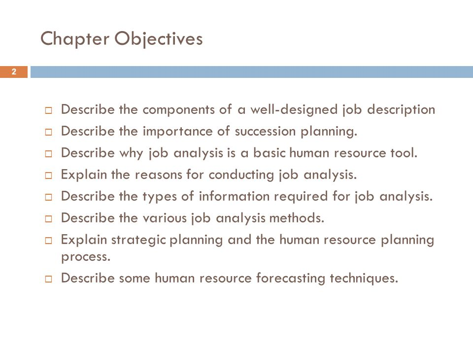 JOB ANALYSIS AND HUMAN RESOURCE PLANNING - ppt video online download