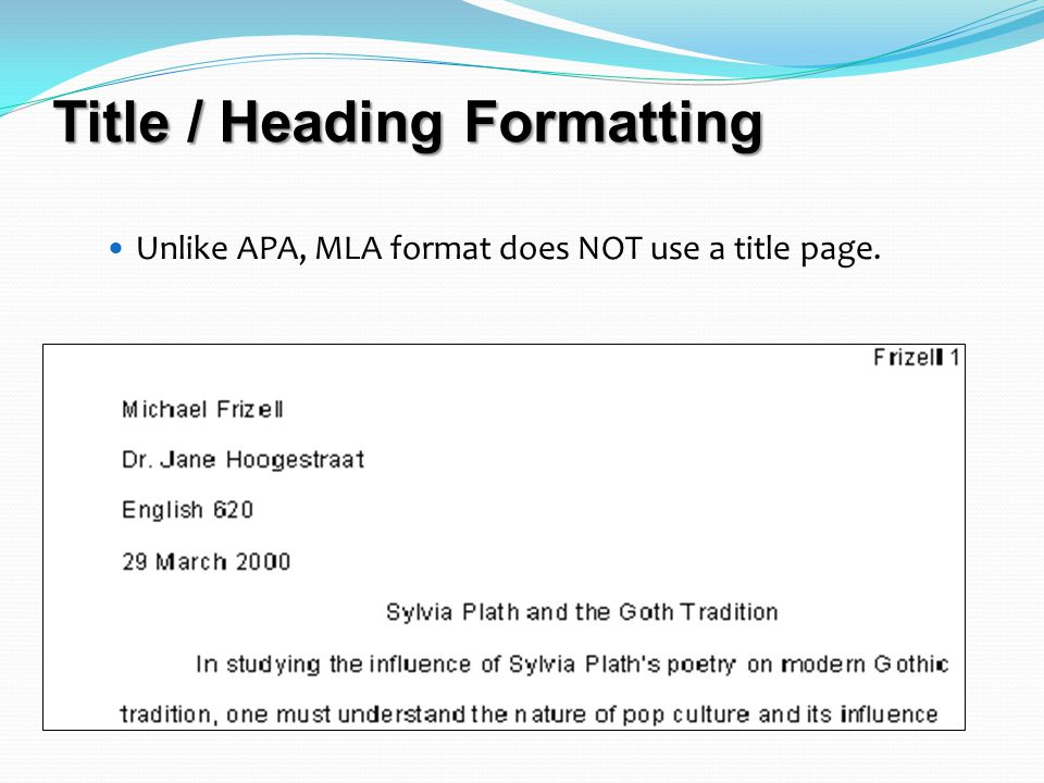 Documentation, MLA Style A guide to in-text and reference citation