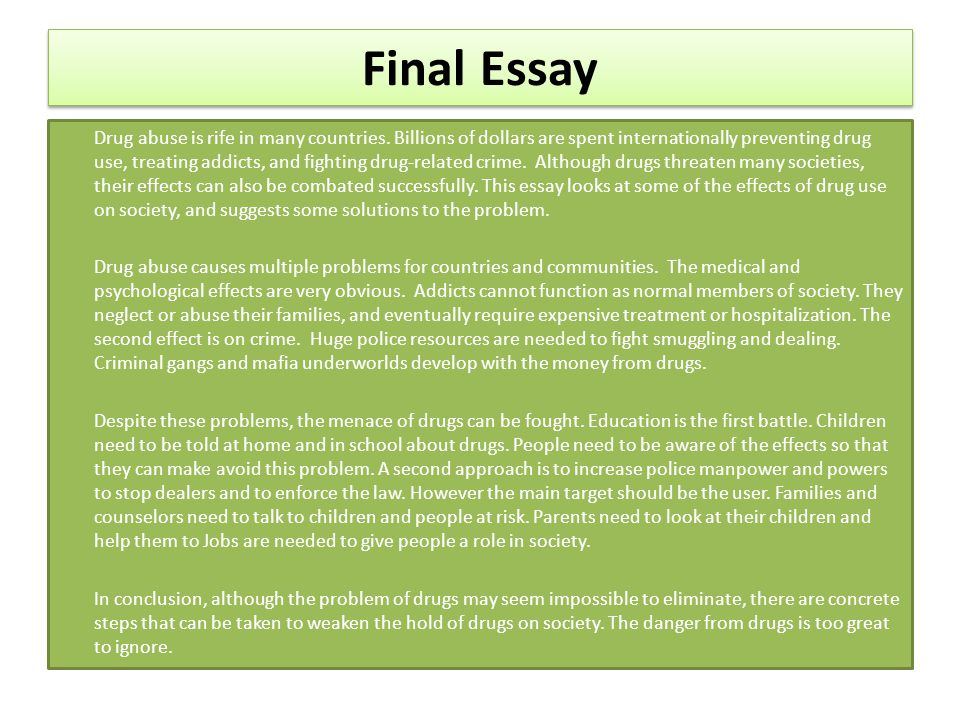 drug screens essay A blog entry that explains the negative dilute drug test result and what it means for drug testing a.