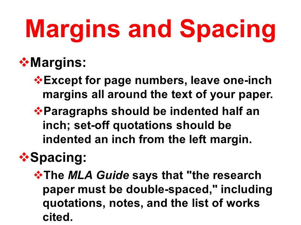 Formatting MLA Research Paper - ppt video online download