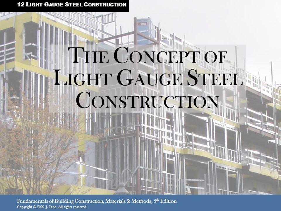 THE CONCEPT OF LIGHT GAUGE STEEL CONSTRUCTION - ppt video online