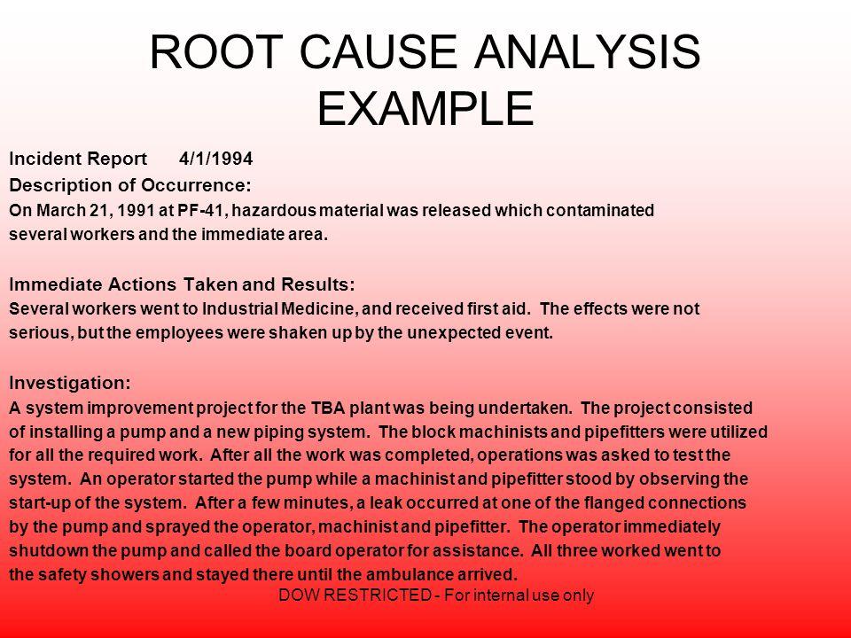 Root Cause Analysis Sample hp2019wearepure