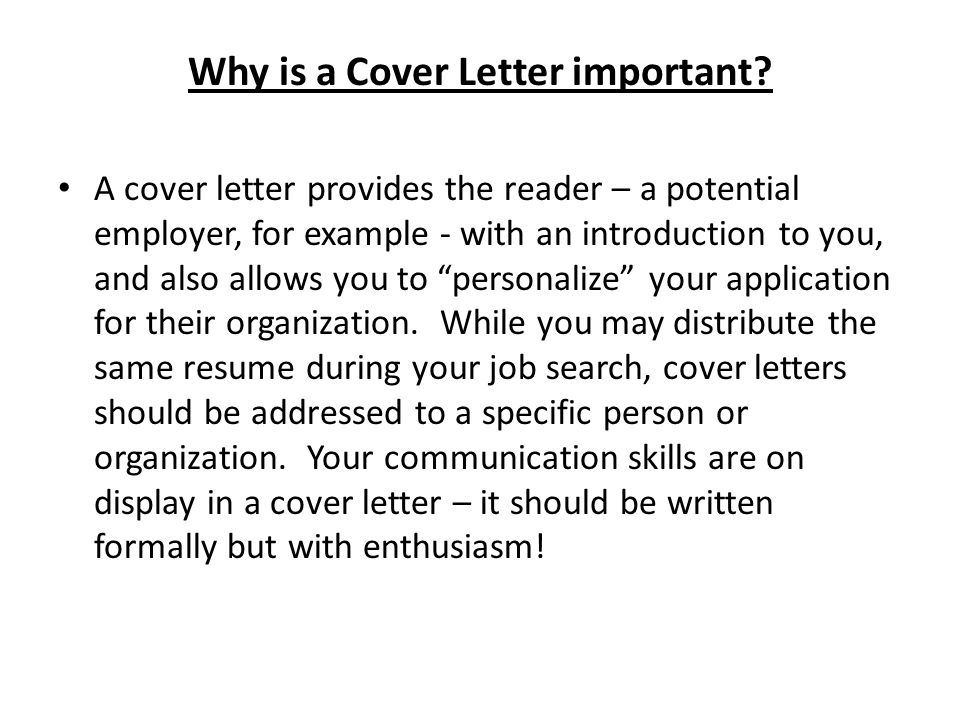 Writing Cover Letters - ppt video online download