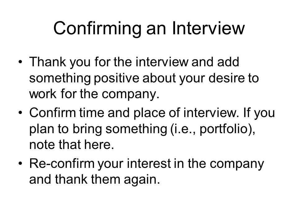 Free Download Sample 8 Interview Confirmation Email Template U2013