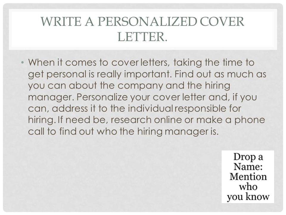 Writing a Cover Letter Tips and Instructions - ppt video online