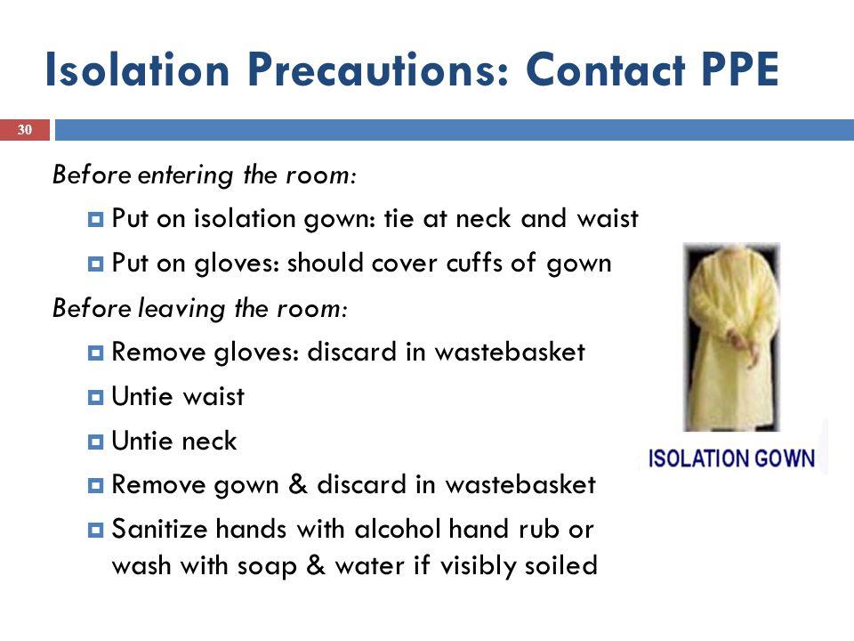 Standard Isolation Precautions Nursing Infection Control - isolation precautions