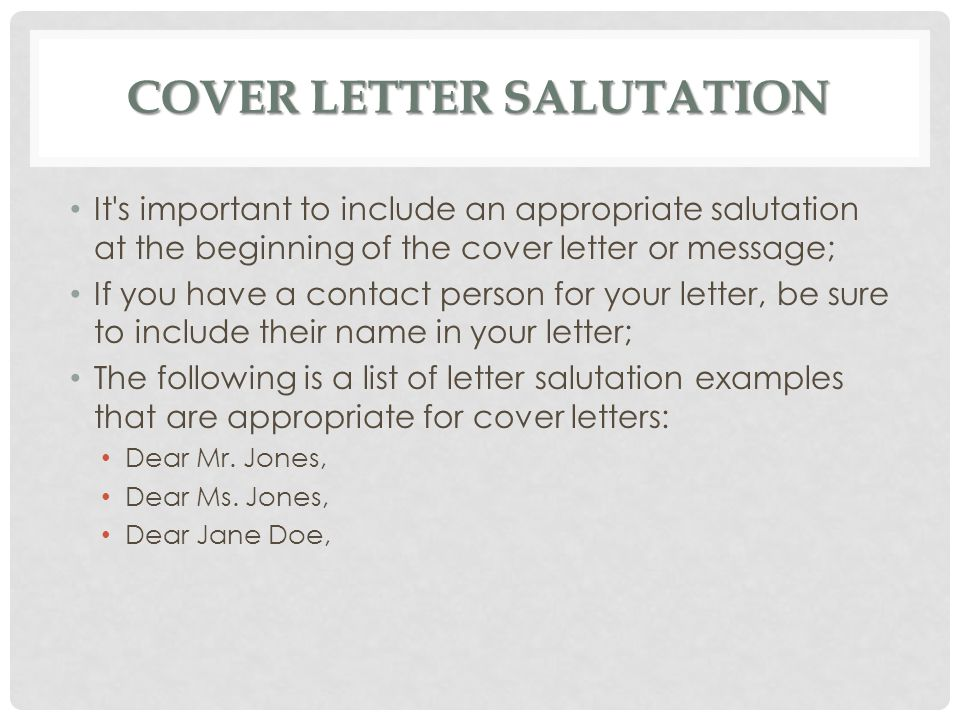 Cover Letters Ms Batichon - ppt video online download