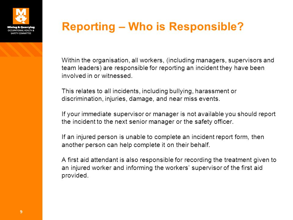 Incident Management Reporting and Investigation - ppt video online - what is it incident report