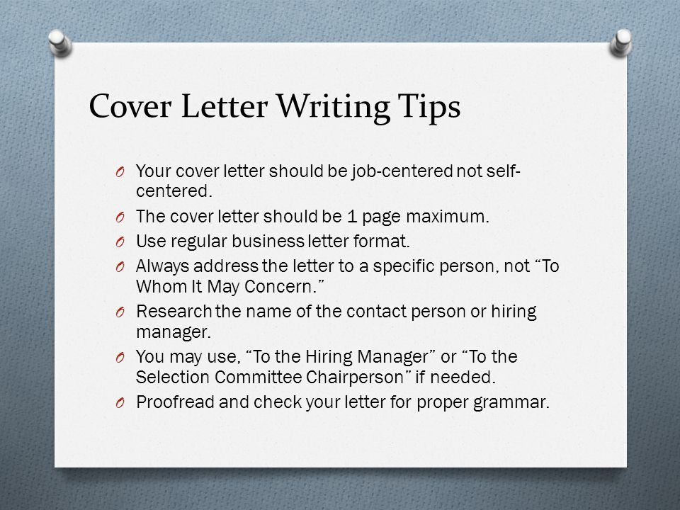 Resume  Cover Letter Writing - ppt download