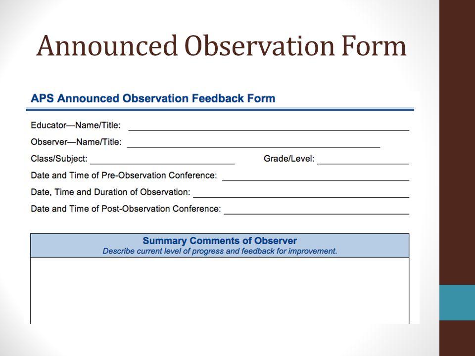 Observation Process and Teacher Feedback - ppt video online download - observation feedback form