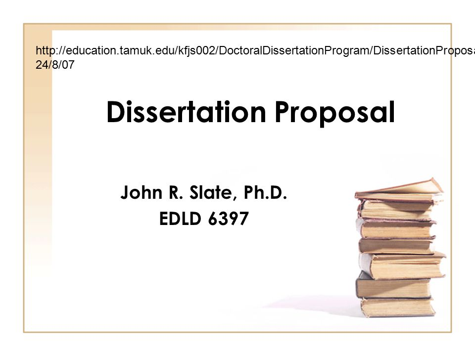 Dissertation Proposal - ppt video online download