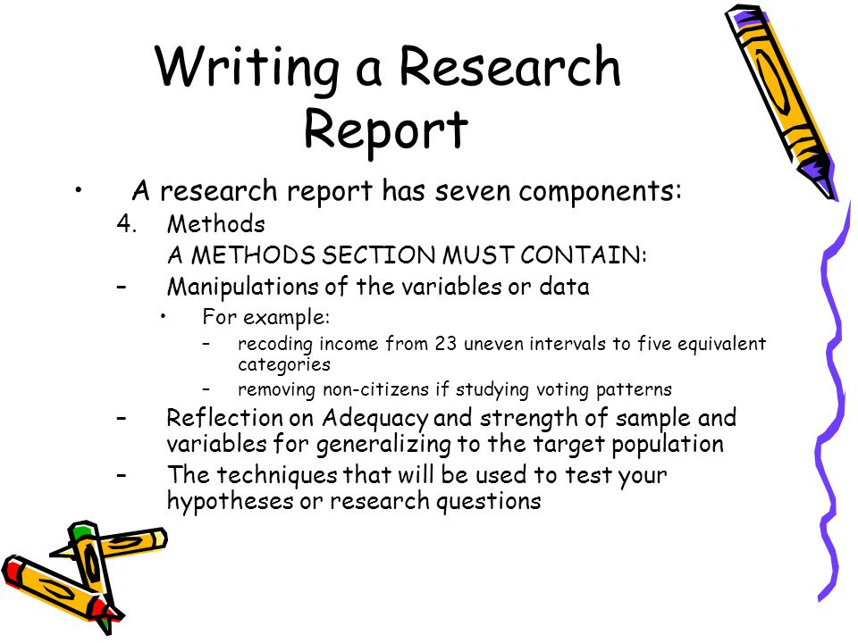 Writing a Research Report - ppt video online download