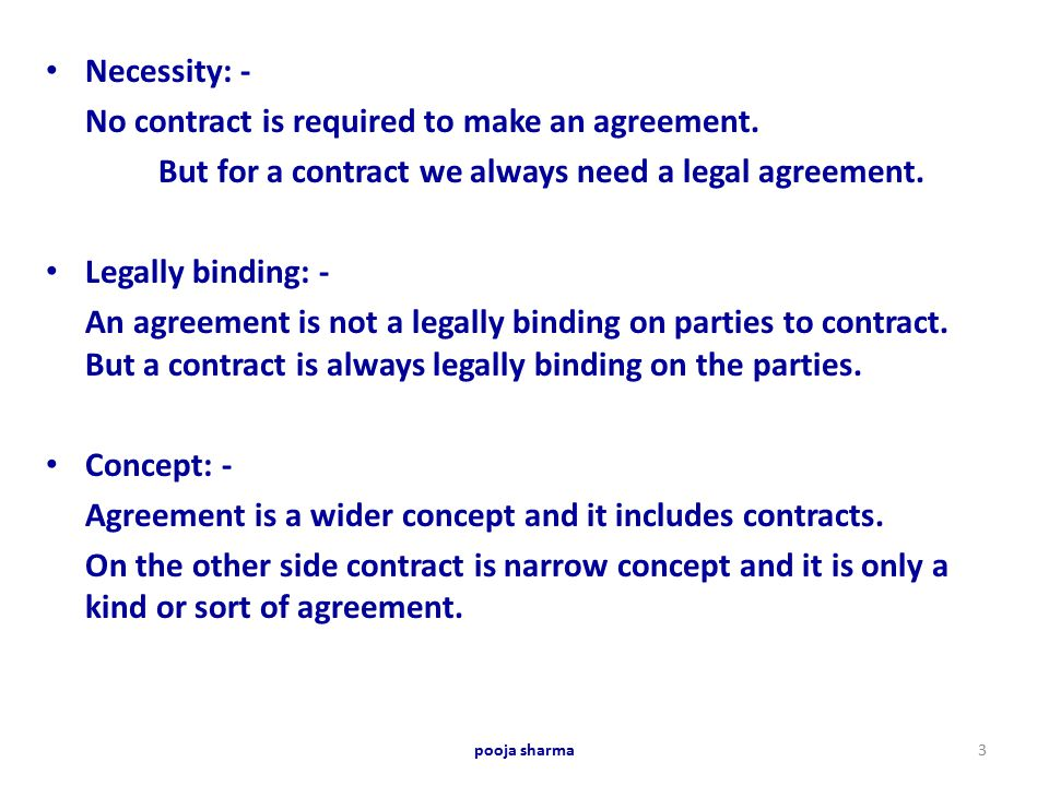 Difference between \u2026 Agreement  Contract\u2026 \u2026 - ppt video online