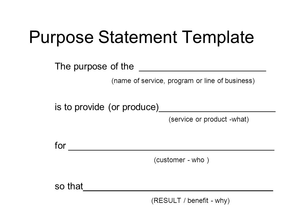 Program Planning Purpose Statements, Goals, Objectives and Logic