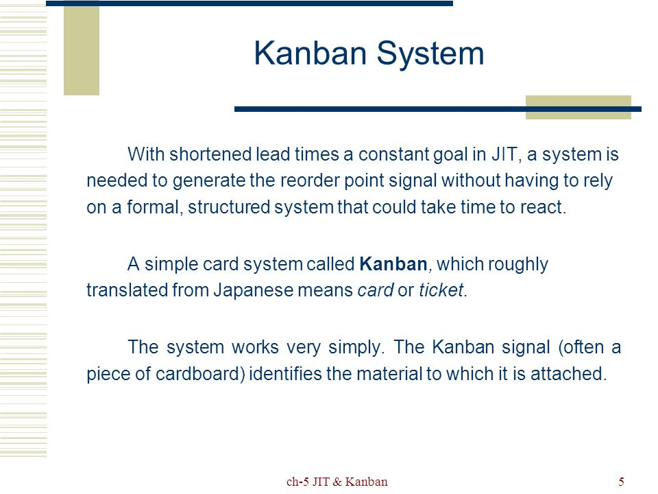 Just-in-time and Kanban - ppt video online download