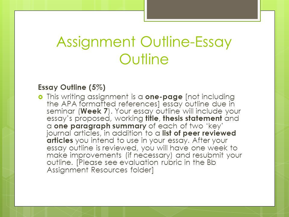 How to Write an Essay Outline - ppt video online download