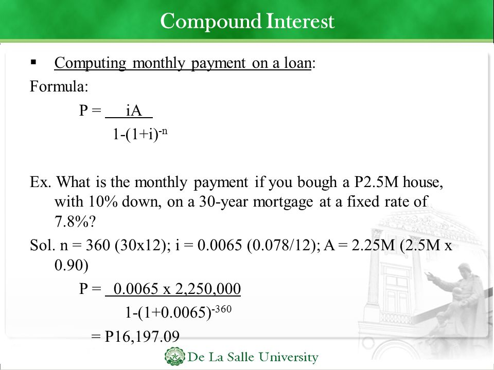 Bank Interest, Loan, and Investment Computation - ppt download