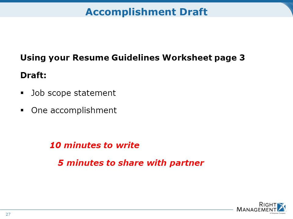 Resume Development WELCOME Materials Resume guidelines worksheets - guidelines for resume
